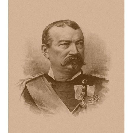 Vintage Civil War artwork of General Philip Sheridan Canvas Art - John ParrotStocktrek Images (27 x 30)