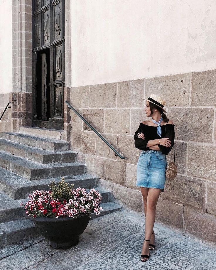 "Sardinia - Italy - Alghero ""Girl born to travel...literally! 👒 #italy #sardinia #italy Shop my black sandals here, link in bio!"""