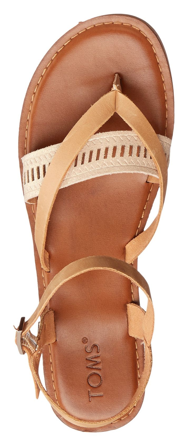 Nude might be even better than white!!! TOMS Lexie Sandal
