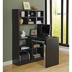 Cappuccino Finish Wood Corner Desk