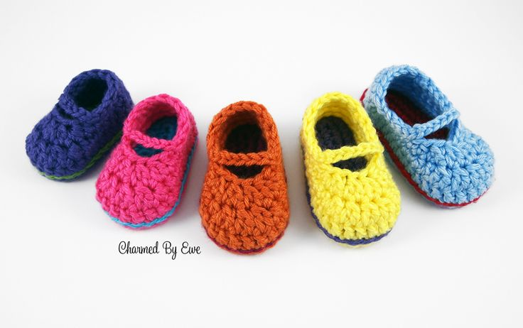 Free Crochet Pattern: Sweet Baby Mary Janes Crazy Cool ...