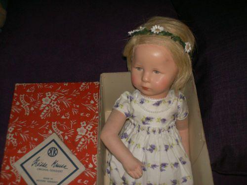 Käthe Kruse Puppe alt mit seltenem Jakimow-Kopf , US-Zone , Originalkarton | eBay