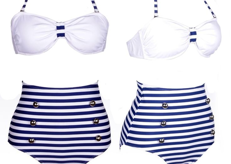 Vintage Nautical Swimsuit
