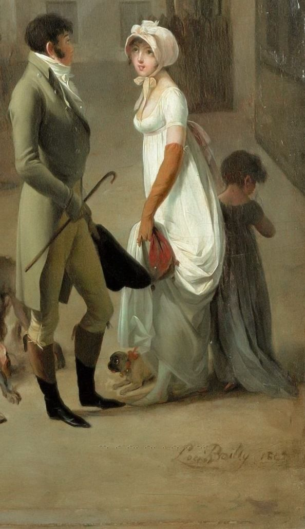 Louis-Léopold Boilly - Arrival of the Stagecoach in the Courtyard of the Messageries [1803] - detail