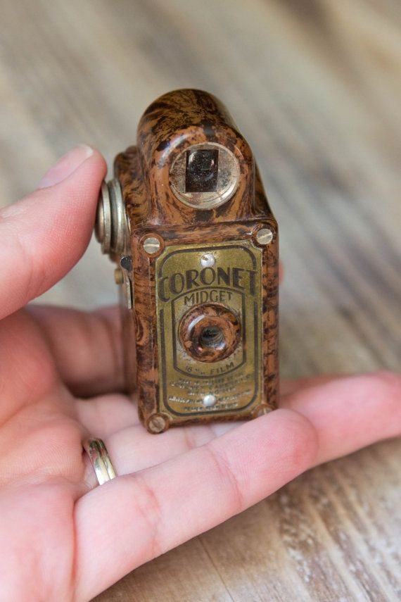 Vintage Coronet Midget Camera - Subminiature - Brown - Extremely Rare on Etsy, $200.00