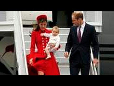 Kate And William Arrive In New Zealand - YouTube