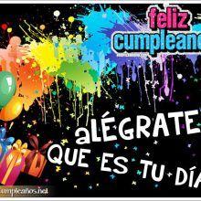 Feliz Cumpleaños para amigos con alegría,colores y globos