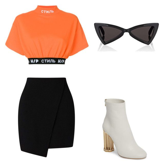 """""""Untitled #93"""" by pukites5555 on Polyvore featuring Heron Preston, Salvatore Ferragamo and Yves Saint Laurent"""