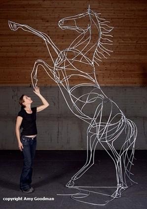 Galvanized welded steel sculpture by Amy Goodman