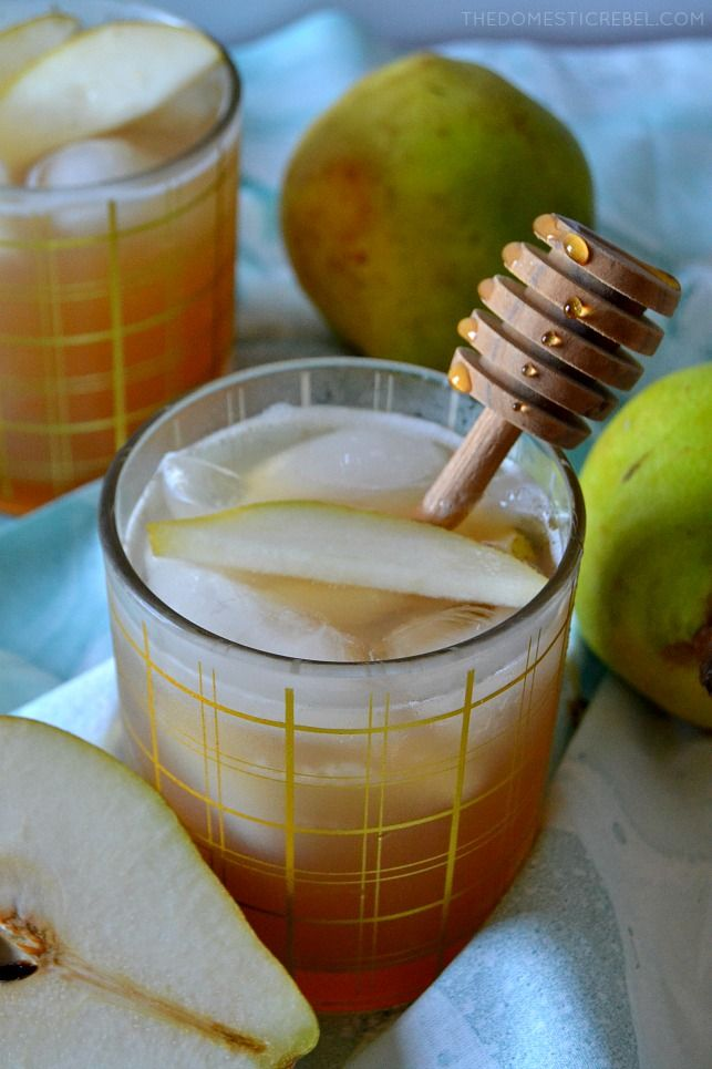 Zodiac Cocktails – Pisces: Honeyed Pear Whiskey Cocktail