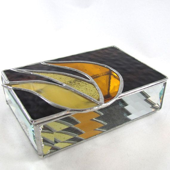 984 best Stained glass Boxes and Candle holders images on
