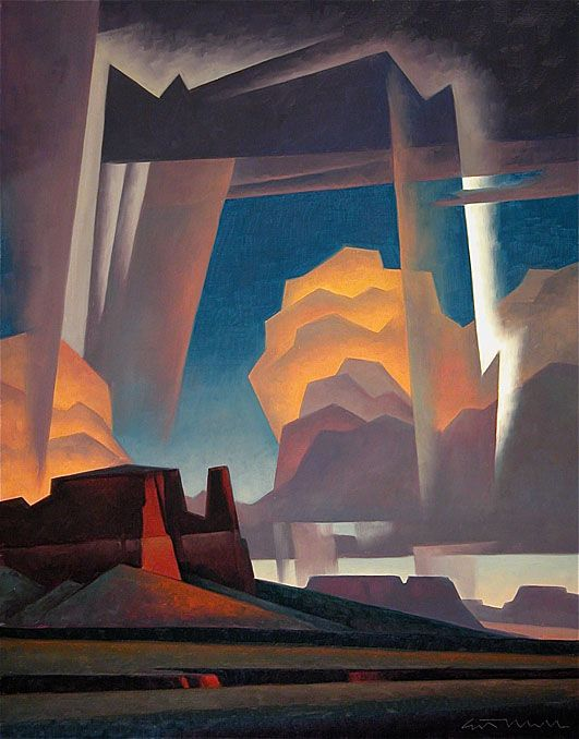 gorgeous.    Crosscut Storm  22x28 oil  by Ed Mell