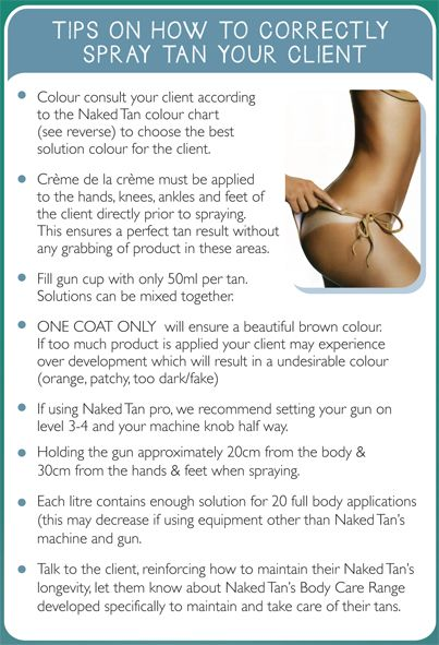 TAN TIP TUESDAY!  Beauty Salons follow these simple steps to offer the best tanning experience to your customers!