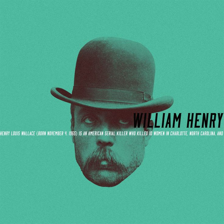 Henry Louis Wallace (born November 4, 1965) is an American serial killer who killed 10 women in Charlotte, North Carolina, and is awaiting execution at Central Prison in Raleigh.  #criminalminds #murderer #murder #collage #art #design #type #typography #typeface #graphic #graphicdesign #studio #psd #photoshop #illustrator #paulsyngdesign #toronto #behance #365DayProject #365
