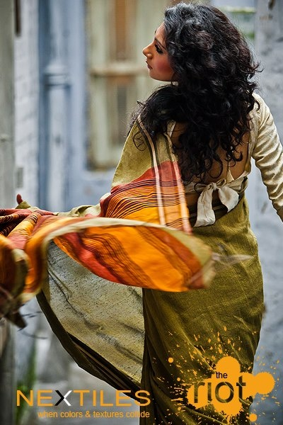 Beautiful colours on my favourite garment - A saree
