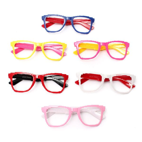 42X127mm Colorful PC Cute Fashion Lens-free Eyeglass Frame Party Glass Optical Eyewear Children Kids
