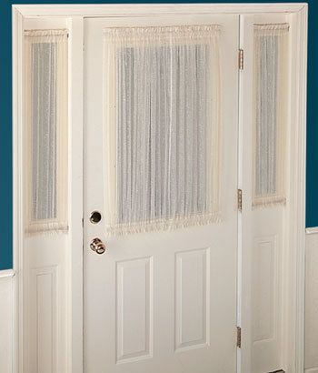 The 25+ best Front door curtains ideas on Pinterest | Sidelight ...