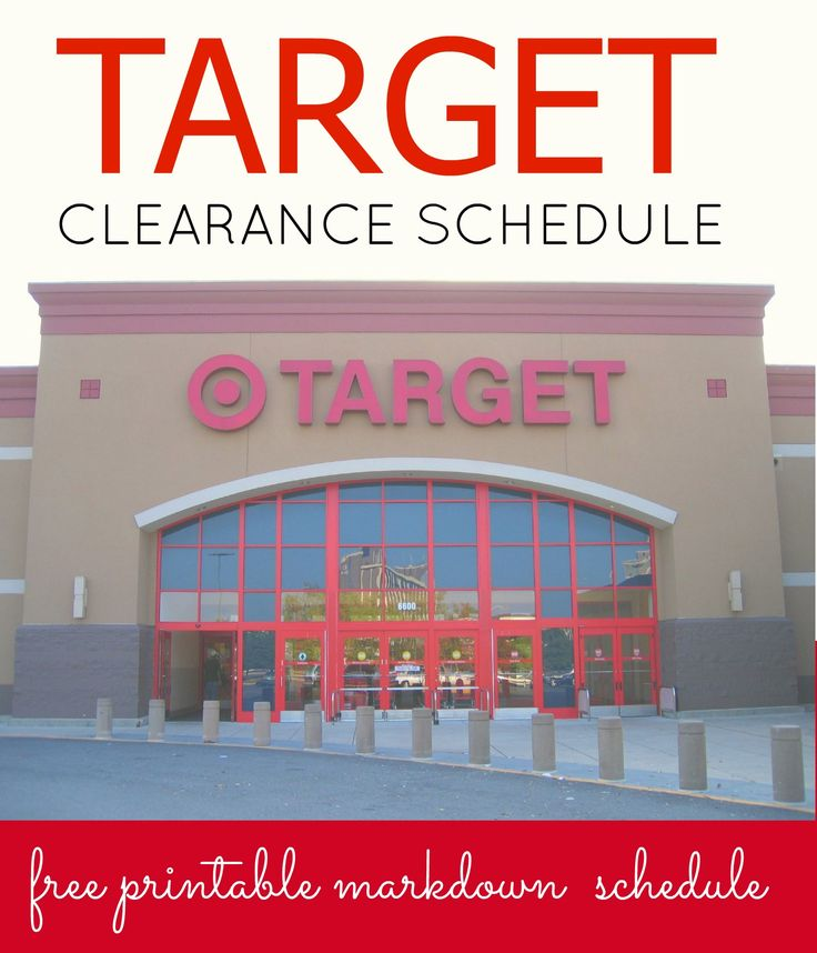 free printable target clearance schedule