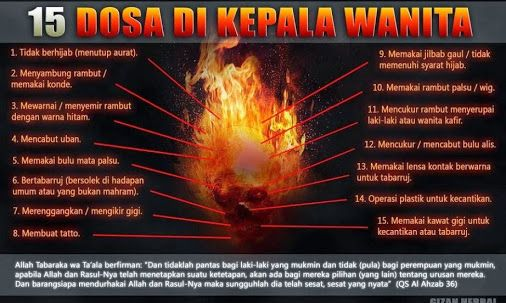 Tahukan kamu??? Ada 15 DOSA DI KEPALA WANITA !!! | KabarHikmah.com