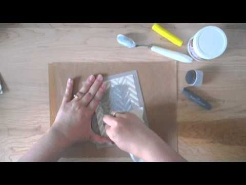 using stencils with Gelatos - YouTube