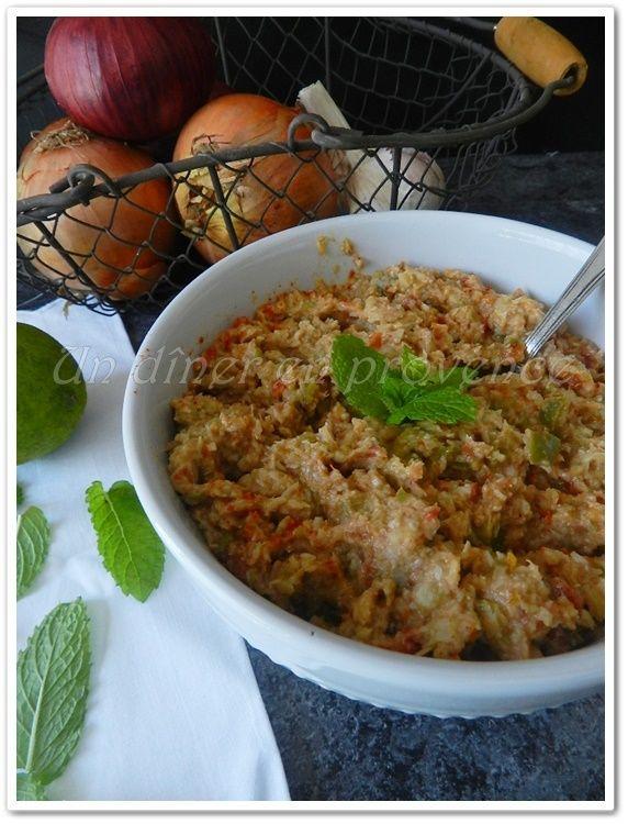 Tartinade d'artichauts, tomates séchées et olives vertes