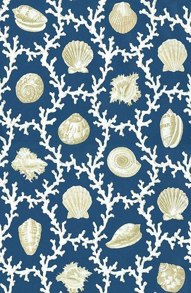 This shell & coral pattern fabric would be great in a shower curtain, window treatment in a guest room or chair seats in a breakfast area. Cotton prints are really versatile.