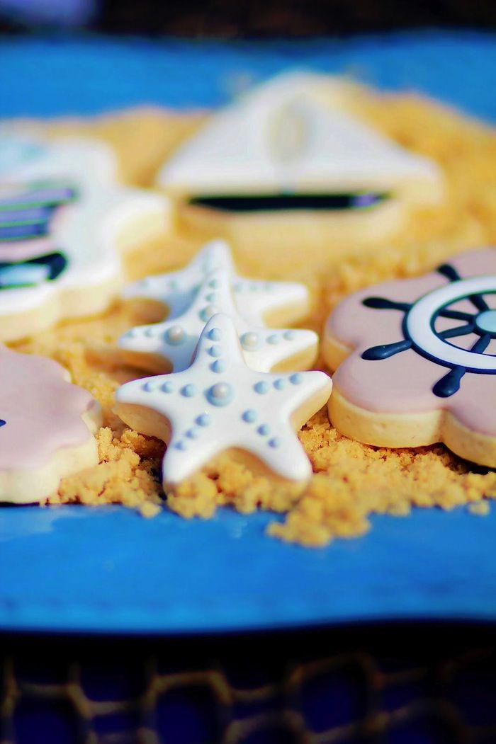 Nautical Themed Birthday Party For Pottery Barn Via Karas Ideas KarasPartyIdeas Cookies
