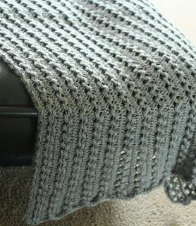 hairpin lace blanket-First time I've seen this outside of my family!