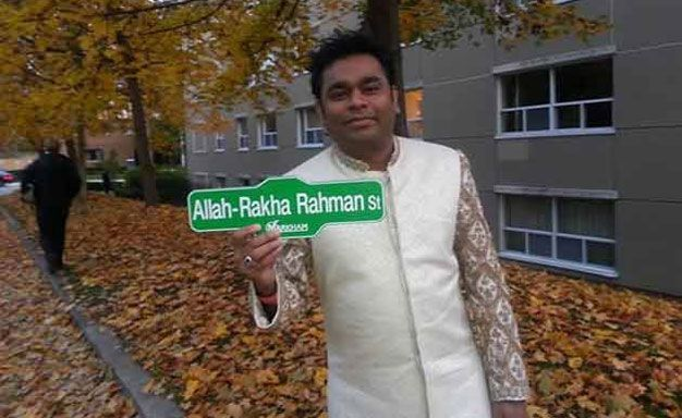 #ARRahman now has a street named after his name in #Markham, #Ontario, #Canada