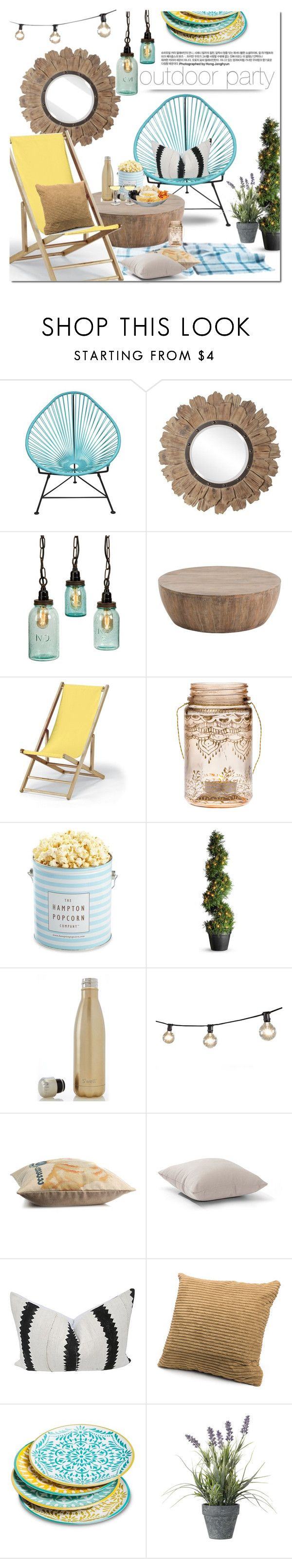 """outdoor party"" by dian-lado ❤ liked on Polyvore featuring interior, interiors, interior design, home, home decor, interior decorating, Innit, Arteriors, Telescope Casual and Cultural Intrigue"
