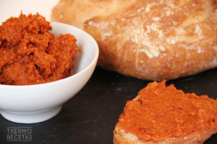 Sobrasada vegetariana - http://www.thermorecetas.com/2014/10/04/sobrasada-vegetariana/