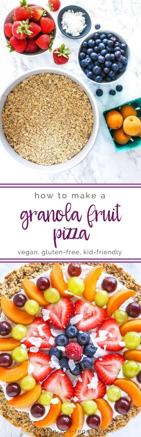 How to Make a Granola Fruit Pizza - Easy DIY Tutorial, vegan and gluten free! || Eat Spin Run Repeat