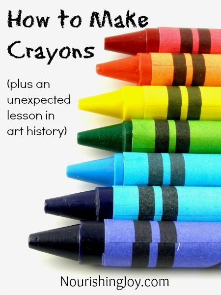 DIY non-toxic crayons, plus a little history lesson to boot (;  We made made crayons when I was a child and the fun was endless...it made us feel even more a part of the creating process - creating colors, naming our custom blends.  So fun!