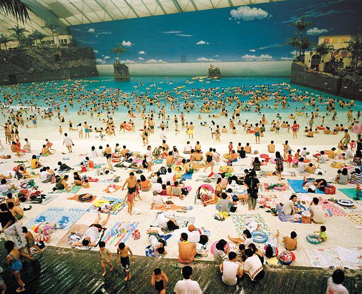Martin Parr, The Artificial Beach Inside the Ocean Dome, Miyazaki, Japan,1996