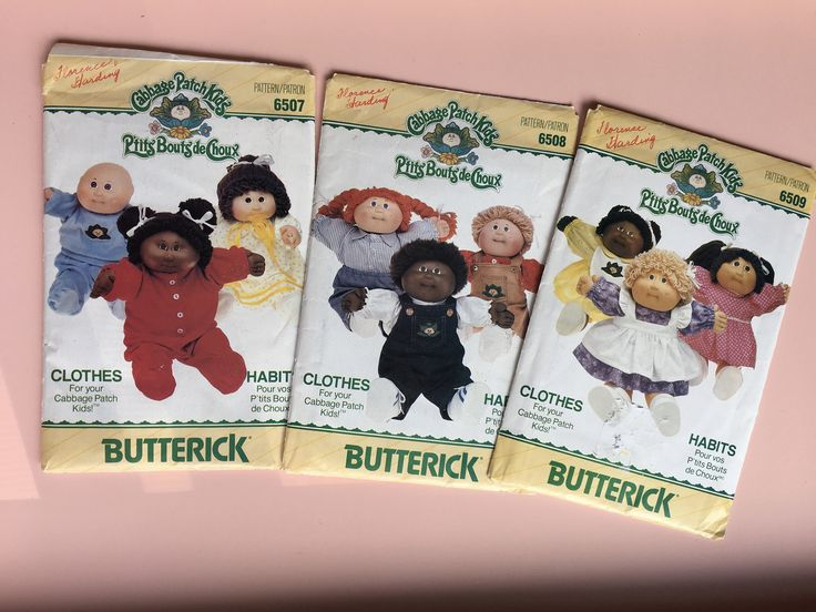 1984 Cabbage Patch Kids Canadian Butterick Clothes patterns, vintage doll making supplies, vintage doll clothing patterns, Xavier Roberts by MuppetLoveVintage on Etsy
