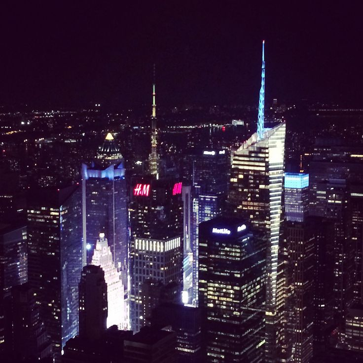 View of Times Square from the Empire State Building at night  © Sarah Murphy