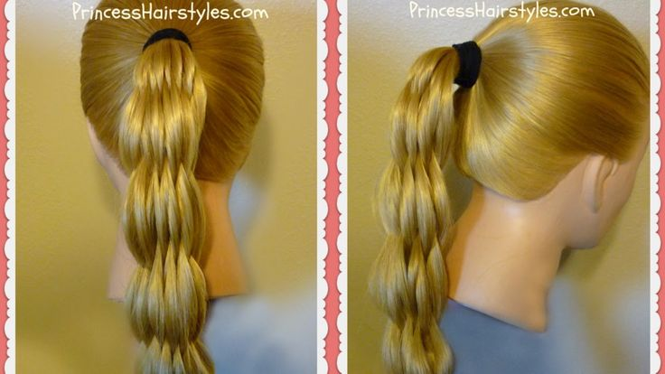 Multi strand pull through braid ponytail, video tutorial.