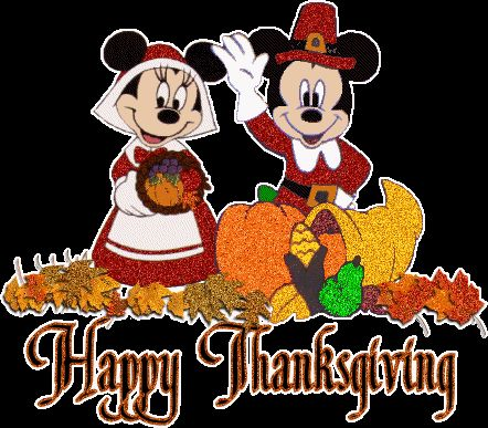 Mickey Mouse Thanksgiving Clip Art | Glitter Graphics: the ...