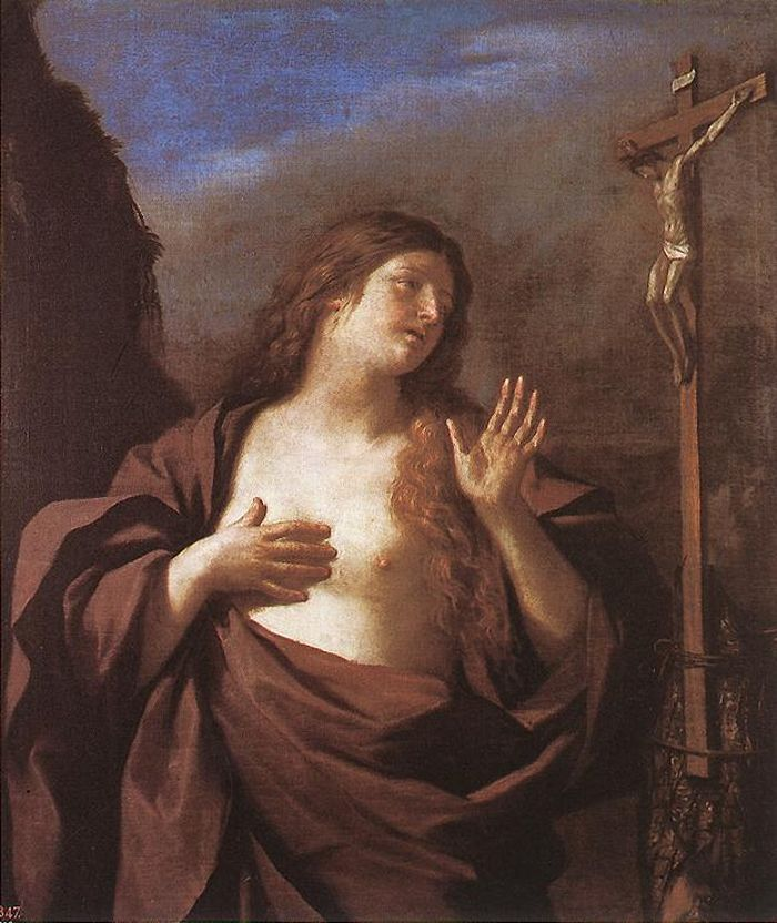 Mary Magdalene in Penitence by GUERCINO #art