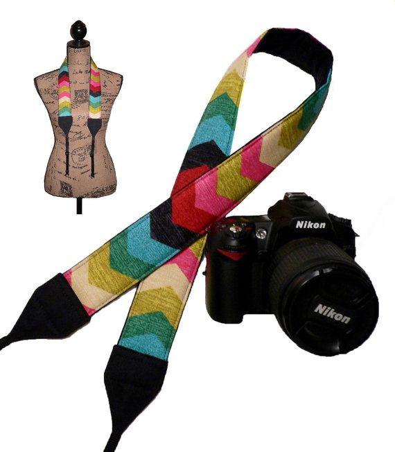 Nikon Padded SLR Neck Strap Canon Dslr Camera Strap by dobeeubags