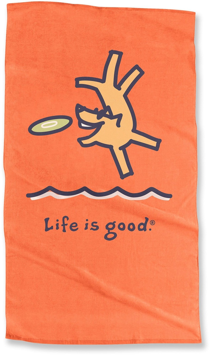 A Burst of Color for Father's Day — Life is good Dog Beach Towel