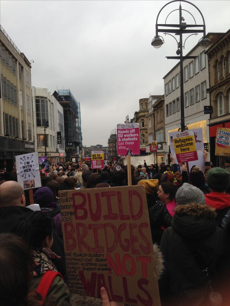 Leeds Anti Trump Protest, Women's March, January 2017