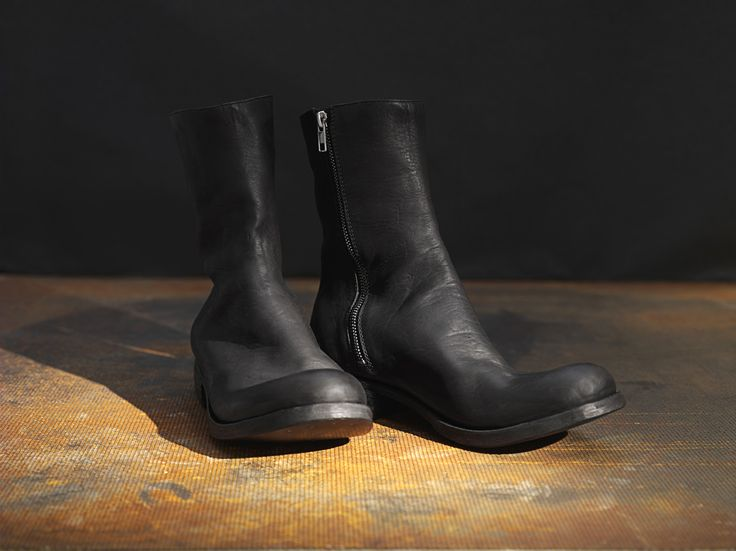 Horse leather side zip boots #boots #handmade #handcrafted #zipboots