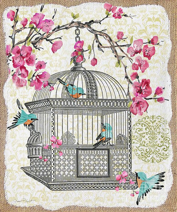 I uploaded new artwork to plout-gallery.artistwebsites.com! - 'Birdcage With Cherry Blossoms-jp2612' - http://plout-gallery.artistwebsites.com/featured/birdcage-with-cherry-blossoms-jp2612-jean-plout.html