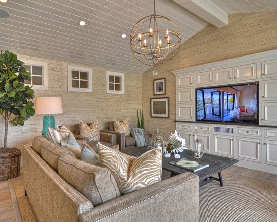 Traditional Living Room Beach Cottage Interior Design Design, Pictures, Remodel, Decor and Ideas - page 4