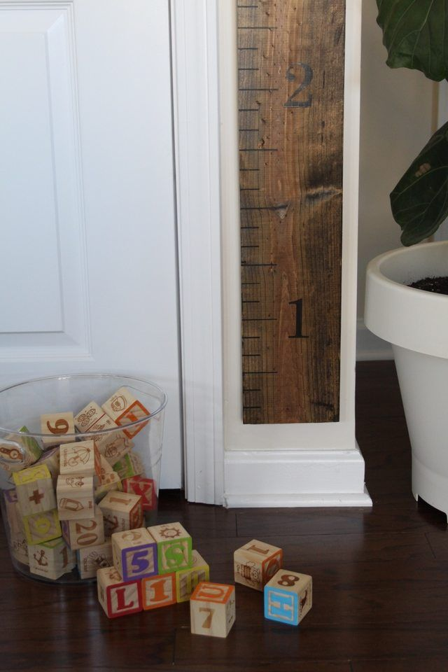 How To Make A Wooden Wall Measuring Stick Growth Chart