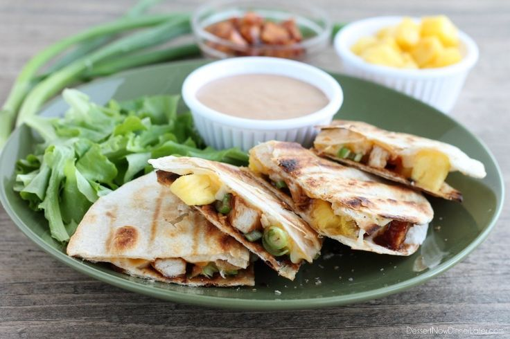 Grilled BBQ Chicken and Pineapple Quesadillas | Recipe
