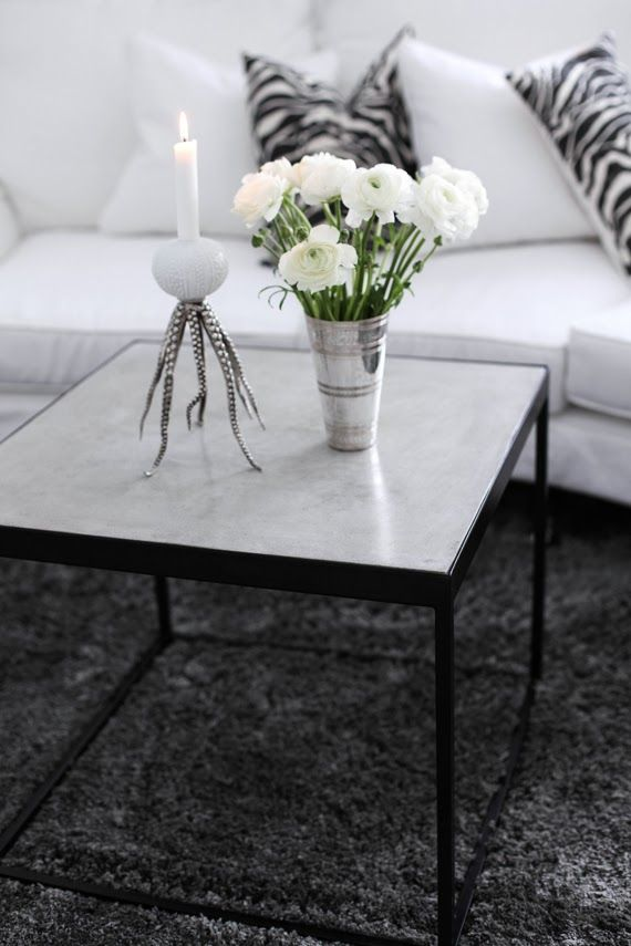Ikea PS table hack MITT VITA HUS