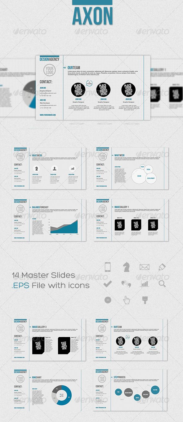 Axon – Keynote Presentation Template - GraphicRiver Item for Sale