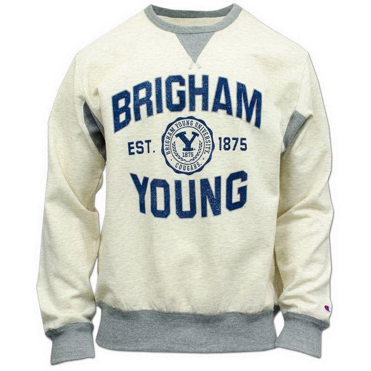 BYU Store - Brigham Young BYU Sweatshirt - Champion Vintage Varsity Outerwear